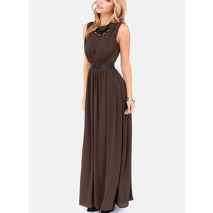 LULUS Exclusive Height of My Life Sable Maxi Dress